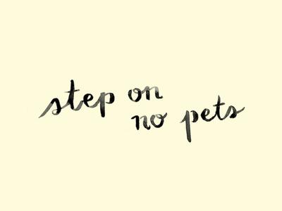 Step on no pets
