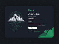 Serene Sign In | Dark Theme Sign In