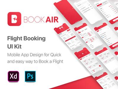 BookAir - Flight Booking App UI Kit