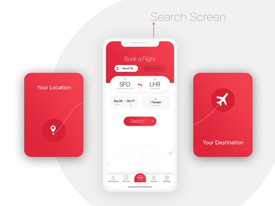 BookAir - Search Screen