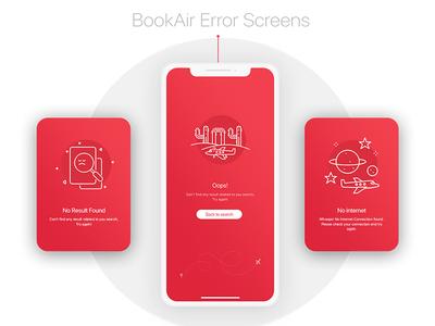 BookAir - Error Screens