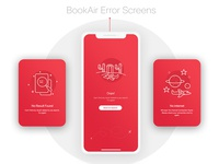 BookAir - Error Screens