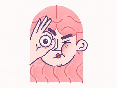 I find You  pink draw girl illustration