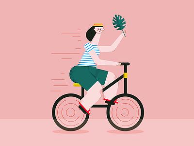 Happy cyrcle pink draw illustration