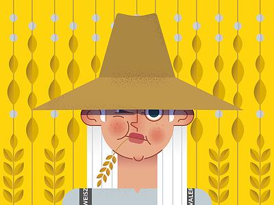 Farmer 01 flat girl yellow farmer
