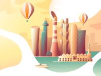 Qatar Travel Guide illustration