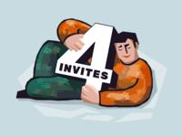 4 Dribbble Invites