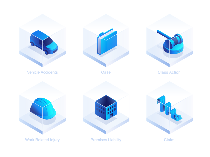 Metaclinic Icons icons isometric gradient white invoice building work court folder car platform medical law health