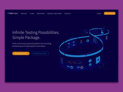 TestProject homepage illustration