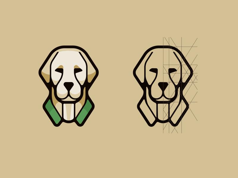 SPB logo platform lines construction service dog logo illustration