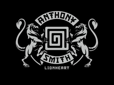 Anthony Smith - Lionheart ufc badge emblem mma bjj
