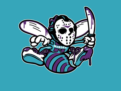 Murder Hornets hockey mask basketball charlotte retro murder freddy freddy krueger