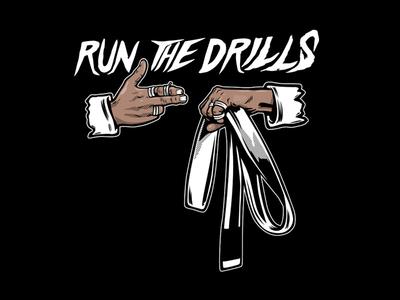 Run the Drills illustration parody jiu jitsu