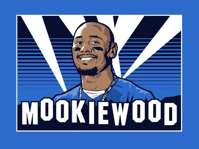 Mookiewood illustration losangeles mookie dodgers mlb