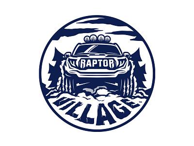 Raptor Village truck ford raptor illustration logo