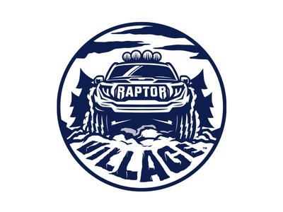 Raptor Village truck ford raptor illustration logo
