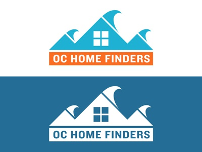 OC Home Finders simple real estate waves window house logo