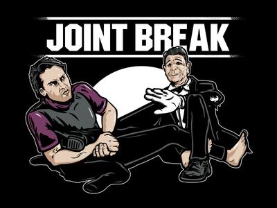 Joint Break patrick swayze keanu reeves point break bjj illustration jiu jitsu