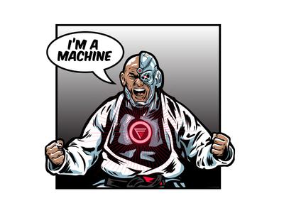 "Roberto ""Cyborg"" Abreu bjj jiu jitsu illustration"