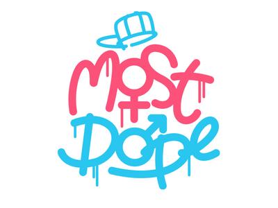 Most Dope Monday 2 symbols sex mac miller typography illustration