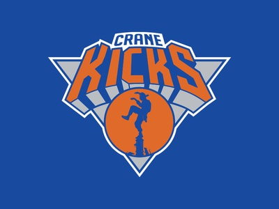 Crane Kicks knicks new york illustration parody cobra kai karate kid