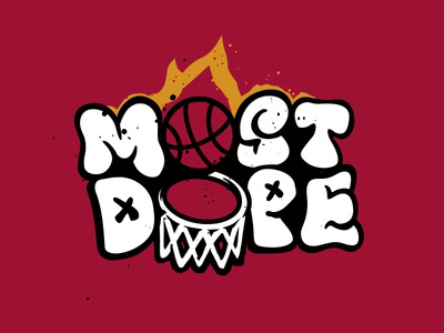 Most Dope Monday 4 typography beat la basketball nba miami heat mac miller most dope