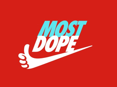 Most Dope Monday 7 thumbs up illustration parody nike mac miller