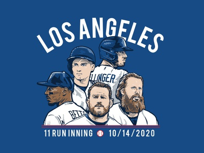 Dodgers Championship run designs muncy muncy seager bellinger turner mookie los angeles dodgers baseball illustration
