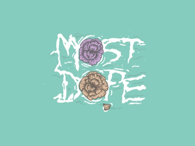 Most Dope Monday 49 flowers carnations surf most dope mac miller typography illustration
