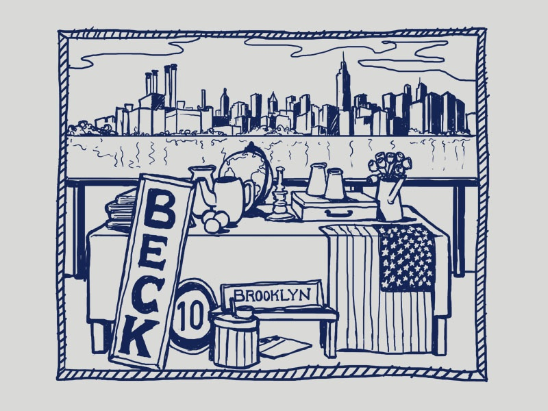Beck sketch flea market beck new york brooklyn