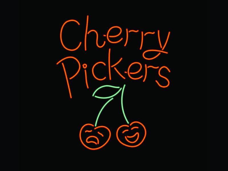 Cherry Pickers retro sign neon lights