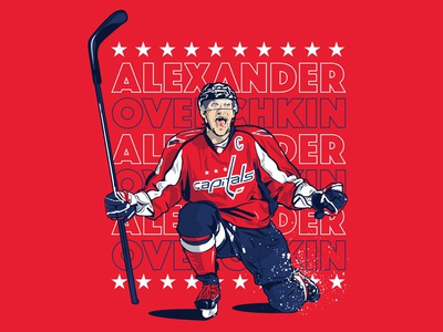 Stanley cup champs alexander ovechkin mvp nhl capitals hockey