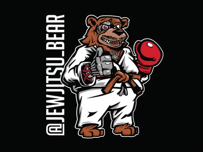 Jew Jitsu Bear gi bears brown belt boxing jiu jitsu bjj