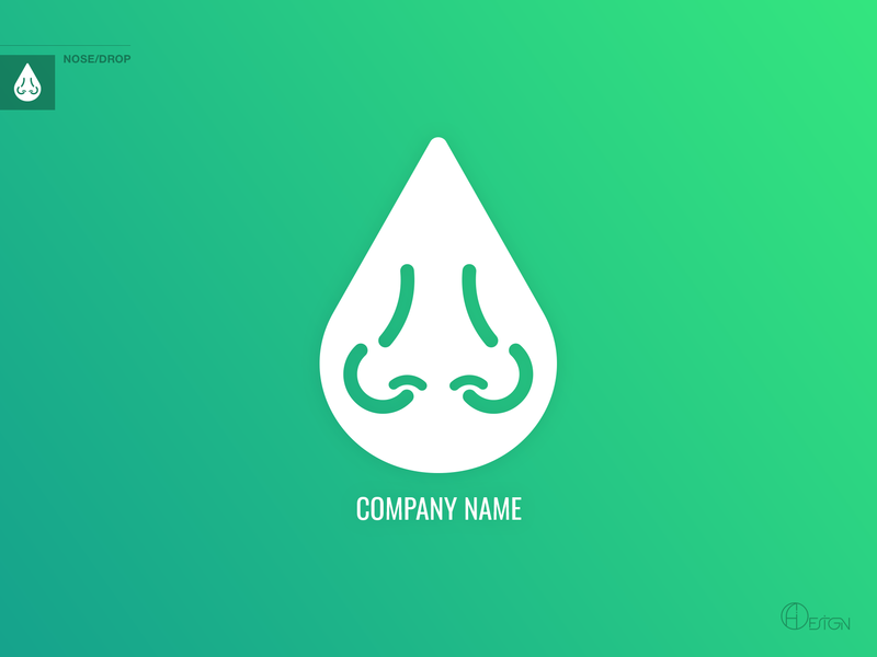 Nose/Drop Logotype medication medicine drop nose logoforsale branding flat design identity illustration illustrator logo minimal vector creative logotipe ui ux corporate branding corporate design