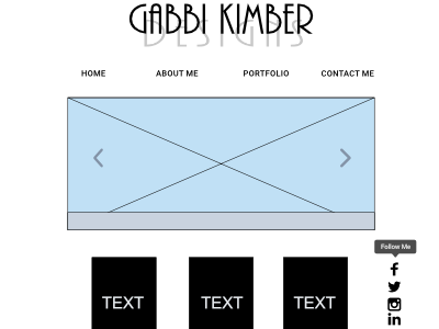 Wireframe Idea For A Website By Gabbi Kimber On Dribbble