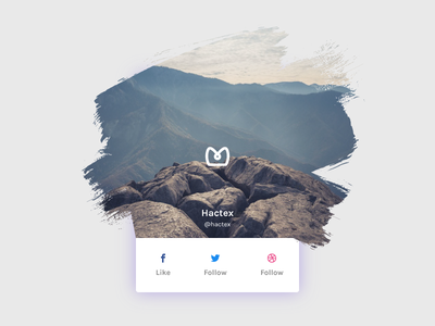 Connect with us innovative clean modern brush keep in touch connect share dribbble twitter facebook social follow