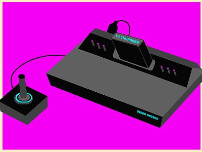 Atari System illustrator flat vector illustration design