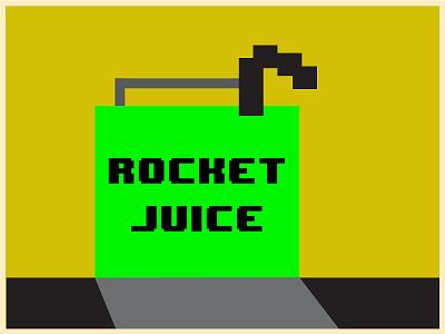 Rocket Juice Bay Bay clean vector illustrator flat illustration design