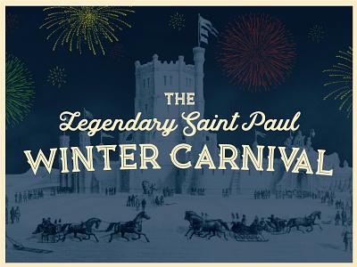 Winter Carnival Key Image illustrator vector branding logo typography design