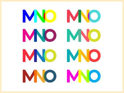 MNO Color Exploration type typography logo clean vector illustration design