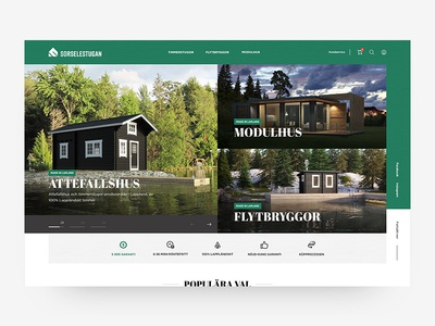E-commerce/web concept design for cabin producer