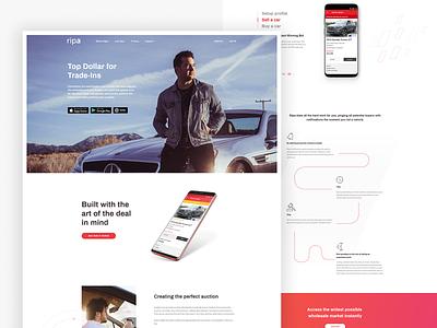 Ripa app dedicated website web design landing page ux app ripa ui website