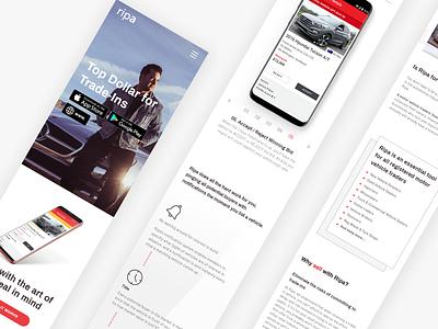 Ripa app dedicated mobile website responsive mobile dealer seller auto dealership car app web ux ui