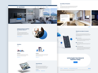 Inspired Technology - Home page design