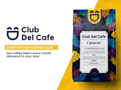 Club Del Cafe logo and package
