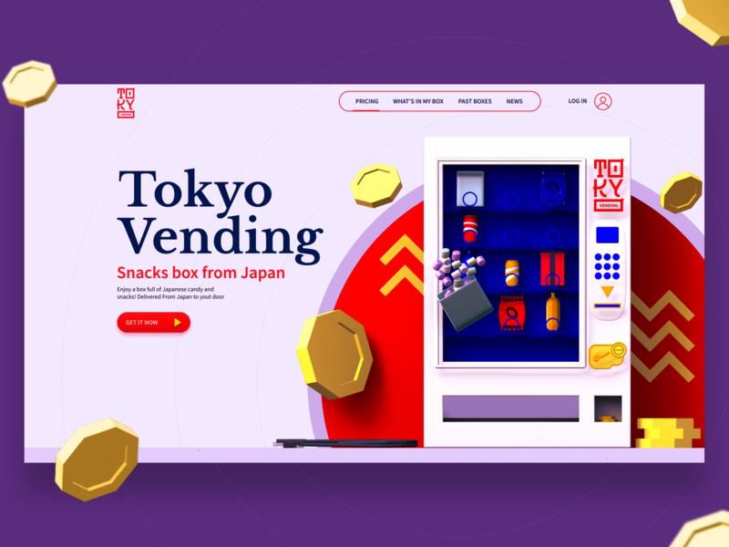 Snacks From Japan typography ux web  design 3d company site web vector ui illustration design