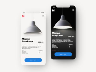 Lamp store UI Concept