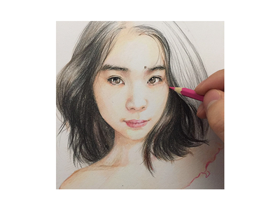 My Wife pencil painting sketch drawing illustration