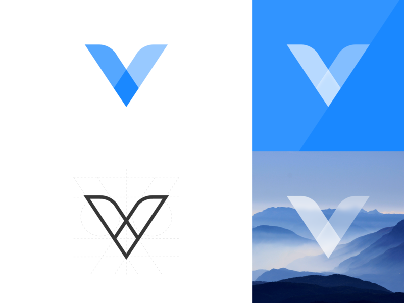 Logo for Vcloud app sketch v logo