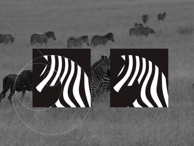 Zebra mark brand animal logo animal zebra